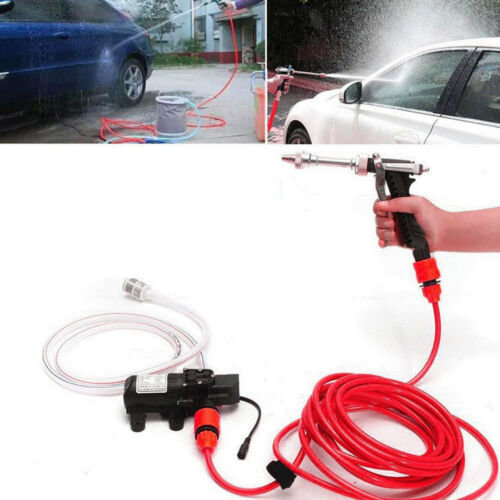 Portable 12VCar High Pressure Washer Water Pump Kit Wash Cleaner Hose