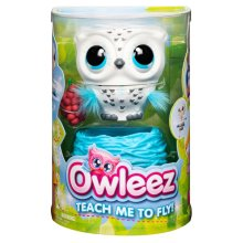 Owleez Flying Baby Owl Interactive Toy with Lights and Sounds - White