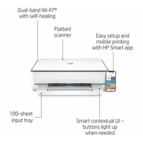 HP ENVY 6032 All in One Wireless Inkjet Printer WiFi Double Sided