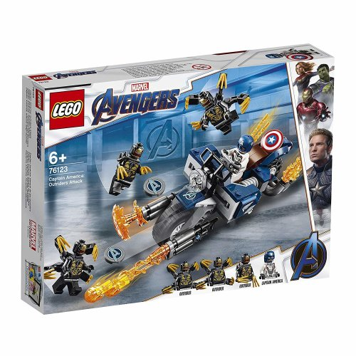 LEGO 76123 Marvel Avengers - Captain America: Outriders Attack