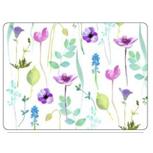 Pimpernel Water Garden Placemats, White, Set of 6