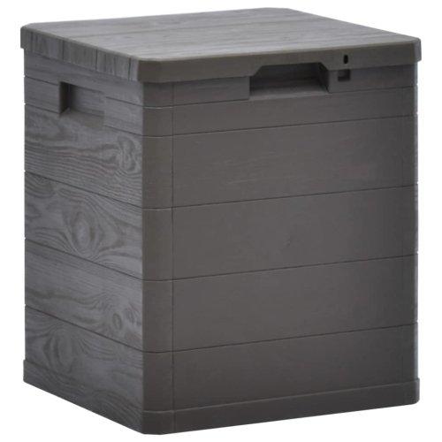 vidaXL Garden Storage Box 90L Brown Garden Tool Organiser Cabinet Unit Shed
