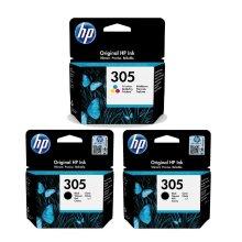 3pk HP 305 Inkjet Cartridges
