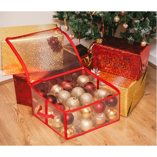 The Magic Toy Shop Ornament Storage Box For 32 Christmas Baubles