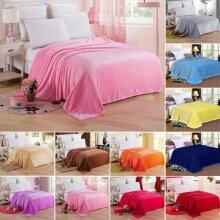 Fleece Blanket Large Bed Sofa Travel Throw Soft Warmer Double & King