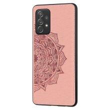 Samsung Galaxy A52 Mandala Print Phone Case -Rose gold