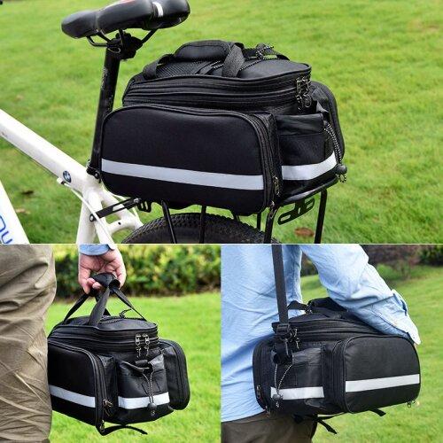 Bike Bicycle Seat Rear Bag Waterproof Pannier Pack