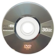 10 x Maxell Blank Mini 8CM DVD-RW Re-Writable Disc Metallic Grey (4x 30min 1.4GB)