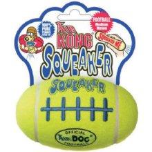 KONG Air Dog Squeaker Football Dog Toy, Medium