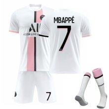 #7 Mbapp?Home Jersey 2021-2022 Season Paris Saint Germain Team Jersey Kit for Kids Teens