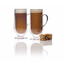 KitchenCraft Le'Xpress Double Walled Latte Glasses, 325 ml, Set of 2