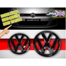 MODIFIX   VW GOLF MK7 BLACK GLOSS FRONT & REAR BADGE EMBLEM VW GOLF 7 GTI TDI R GTD