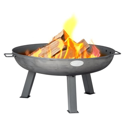 Harbour Housewares Garden Cast Iron Fire Pit   Outdoor Fire Bowl - 75cm