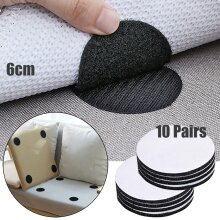 20pcs Pairs Anti Curling Carpet Tape Rug Gripper Velcro Secure the Carpet Sofa and Sheets in Place and Keep the Corners Flat