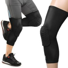 Hex Knee Pad Compression Single Leg Support Protector Sleeve - Black