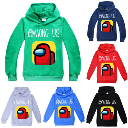 Among Us Kids Boys Hoodies Hooded Jumper Sweatshirt Gaming Casual Pullover Tops