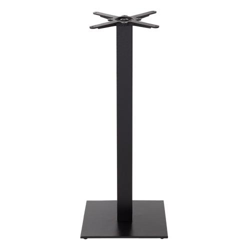 Black cast iron square table base - Medium - Poseur height - 1050 mm
