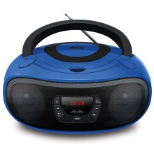 Grouptronics GTCD-501 Blue CD Player With Radio, USB, MP3 & AUX IN