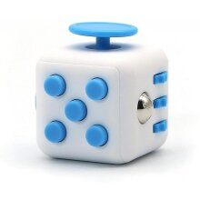 Fidget Cube Stress Anxiety Pressure Relieving Toy Great[relaxing Toy][stress Reliever](White * Blue)
