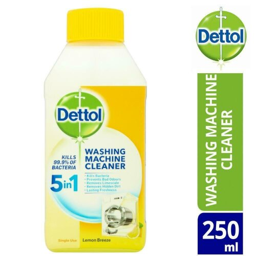 DETTOL WASHING MACHINE CLEANER LEMON BREEZE 250ML REMOVES LIMESCALE AND DIRT