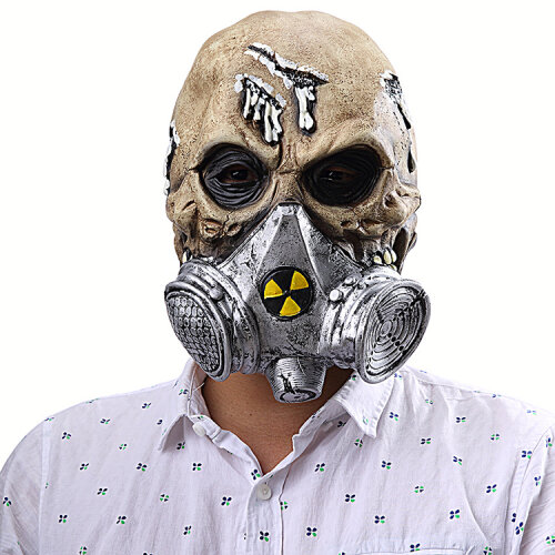 Halloween Resident The Evil Dead Cosplay Props Scary Skeleton Gas Mask