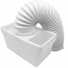 TUMBLE DRYER CONDENSER VENT KIT BOX COMPLETE WITH HOSE & CLIP UNIVERSAL