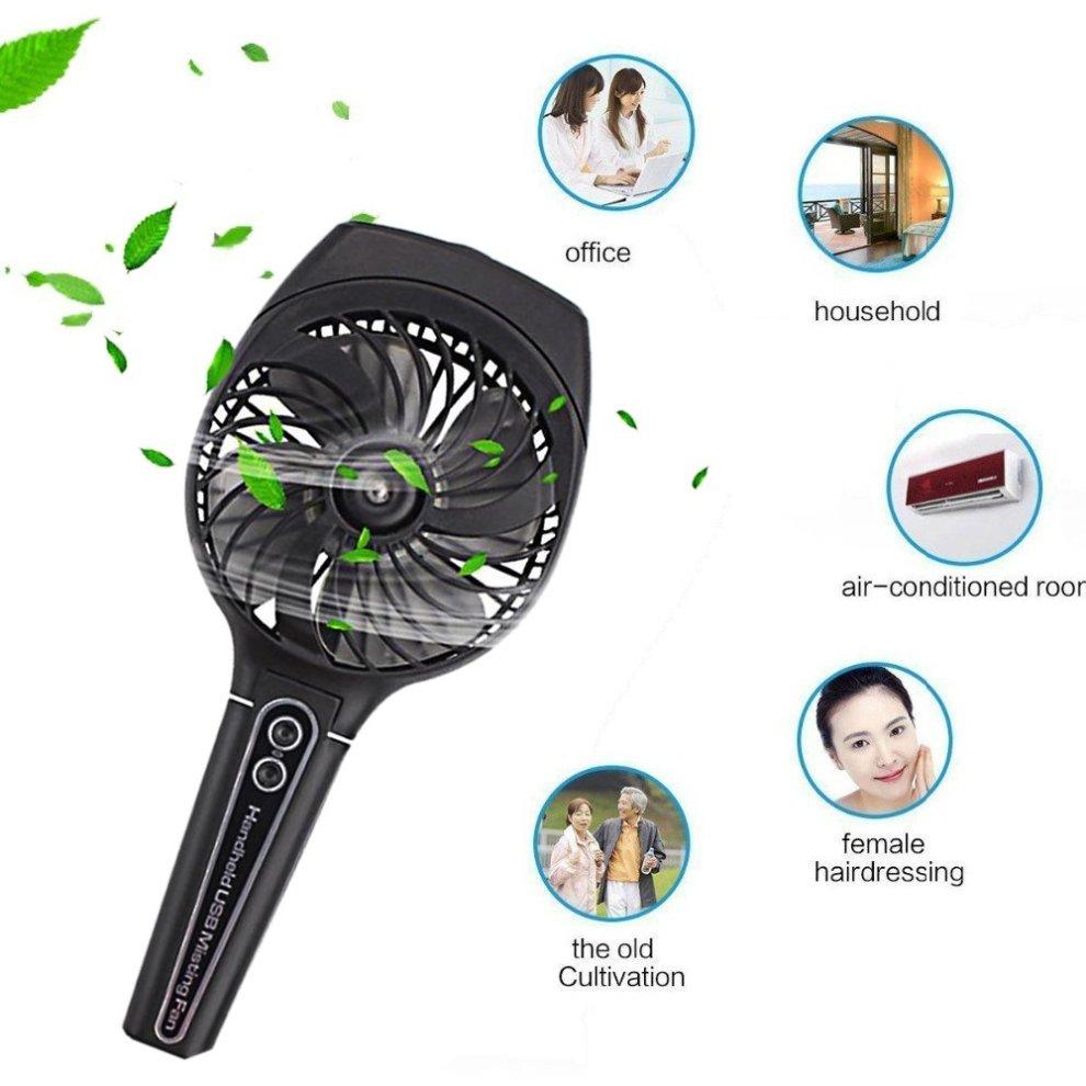 wivarra Mini Handheld USB Misting Fan with Personal ...