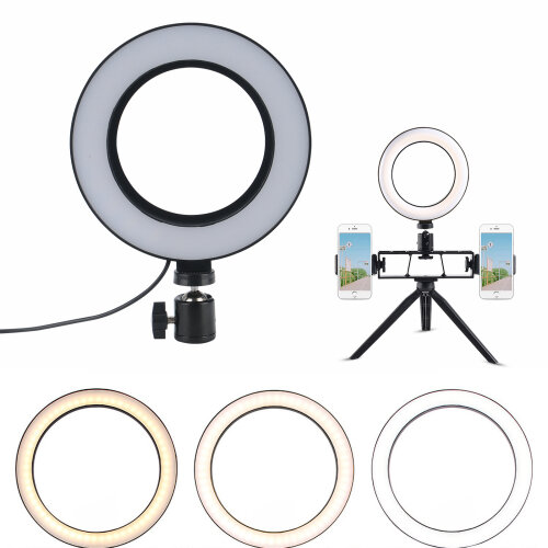"""6""""LED Ring Light Dimmable Tripod Diffuser & Stand for Studio Photo"""