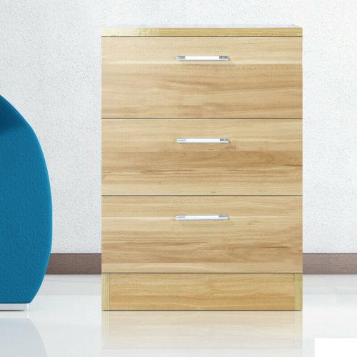 Drawer Wooden Nightstand Bedside Cabinet Storage Dining Bedroom
