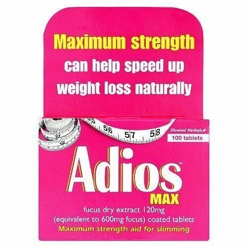 100pk Adios Max Strength Herbal Slimming Tablets