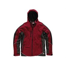 Dickies JW7010 RD/BK L Two Tone Soft Shell Red / Black Jacket - L 44-46in