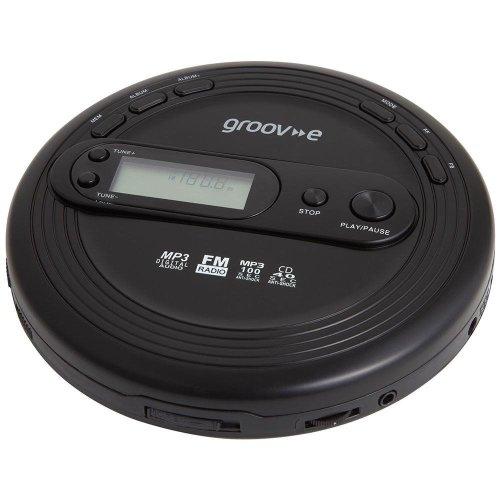Groov-e Retro Series Personal CD Player + Radio MP3 Playback and Earphones - Black