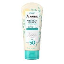 Aveeno Positively Mineral Sensitive Sunscreen Broad Spectrum SPF 50, 88 ml