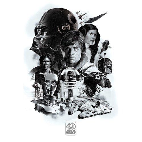 """Poster - Studio B - Star Wars - 40th Montage 36x24"""" Wall Art P4164"""