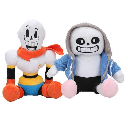2pcs 30cm Undertale Plush Toy Sans Papyrus Asriel Toriel Stuffed Doll