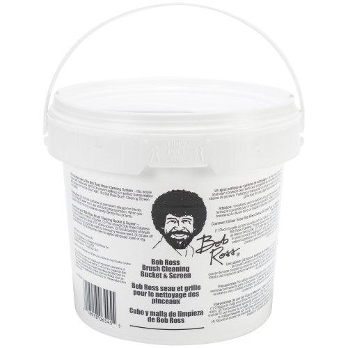 Bob Ross Cleaning Bucket & Screen-White
