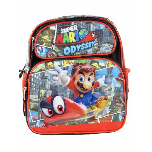 Small Backpack - Nintendo - Super Mario Bros - Odyssey Black/Red 191843