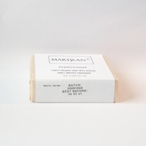 Organic Scottish Frankincense Soap Handmade With Apricot