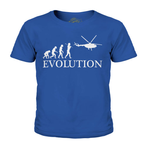 Candymix - Helicopter Evolution Of Man - Unisex Kid's T-Shirt