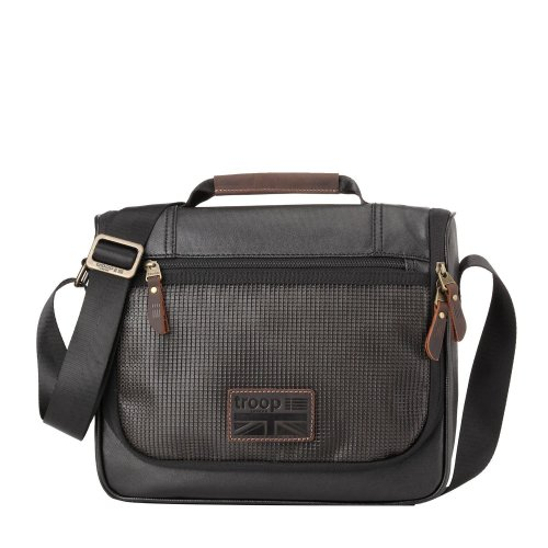 TRP0461 Troop London Classic Canvas Messenger Bag | Buy Bags Online | Canvas Messenger Bags | leather canvas backpack