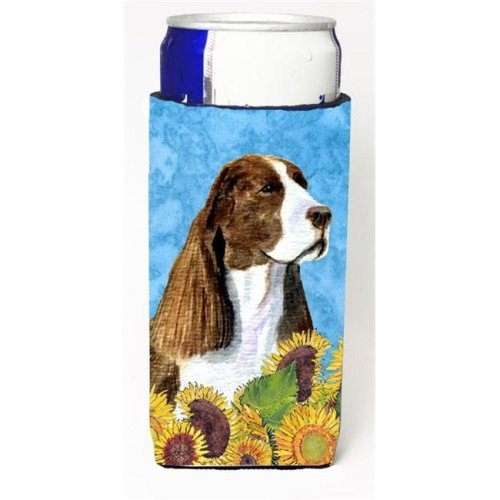 Springer Spaniel In Summer Flowers Michelob Ultra bottle sleeves For Slim Cans - 12 oz.