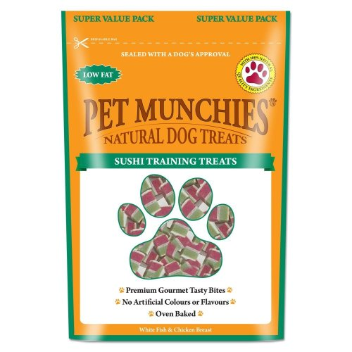 Pet Munchies Natural Sushi Training Treats Super Value Pack