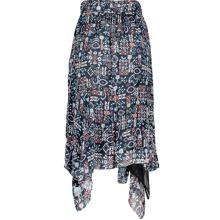 Isabel Marant EDA Black Multicolour Silk Skirt