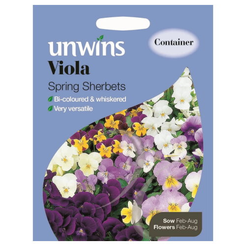 Unwins Grow Your Own At Home Viola Spring Sherbets Flowers Seeds