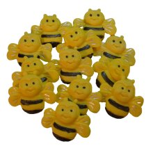 12 Edible Happy Bumble Bees Cake Decorations Cupcake Toppers
