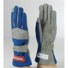 Racequip 351025 1 Layer SFI-1 Blue Glove, Large