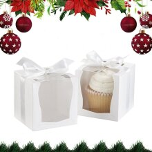 10PCS Cake Boxes With Clear Windows