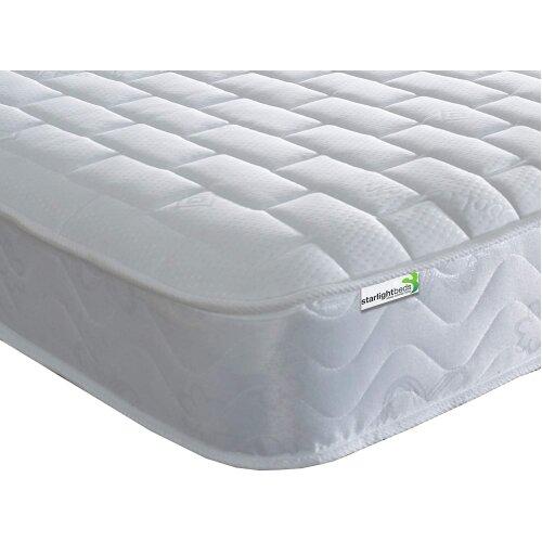 Starlight Beds - 3ft Single Mattress (3ft x 6ft3) (90cmx190cm) Memory Foam Sprung Mattress