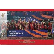Liverpool FC Premier League Champions 2019-20 Trophy Poster