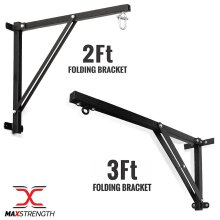 Heavy Duty Punch Bag Foldable Wall Bracket Steel Mount Hanging Stand 2ft 3ft